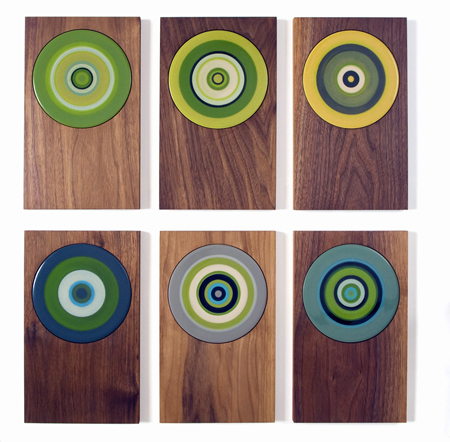 Walnut hotplates for Margaret Howell